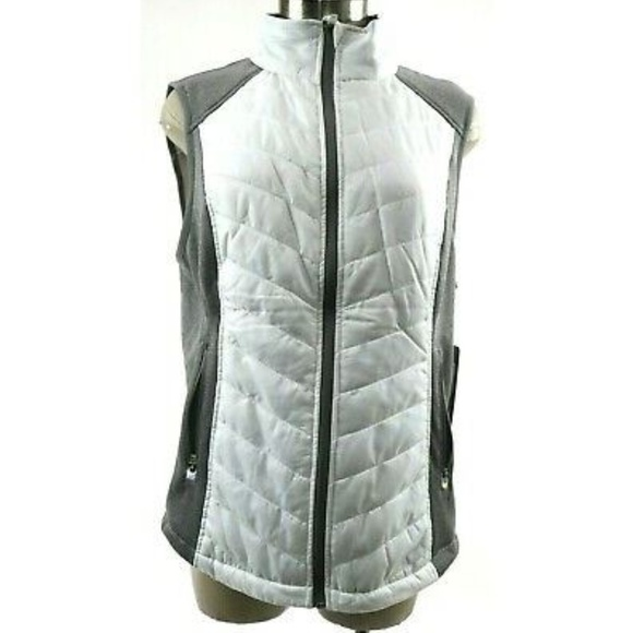 Gray, Large Full Zipper NEW Marc New York Ladies/' Quilted Jacket